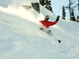 Carving up the pow