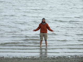 Standing in The Arctic Ocean