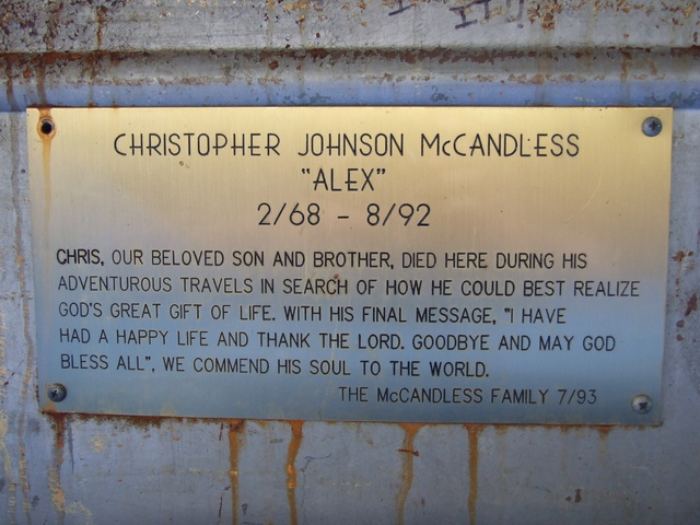 Christopher McCandless Plaque