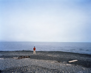 Dan pondering life at the Arctic Ocean