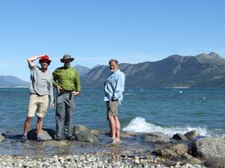 Dan Brett and Bill at Bennett Lake