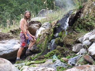 Placid Hot Spring waterfall