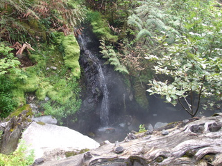 Sloquet Hot Spring waterfall