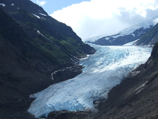 Glacier on the drive to Stewart