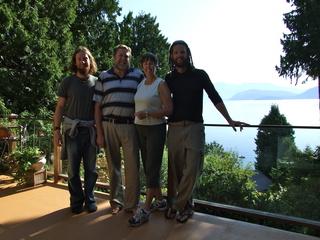 Mike, David, Barbara & Dan enjoying the view