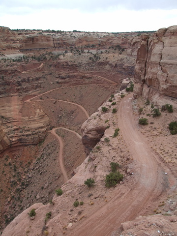 The Shafer Trail winds down