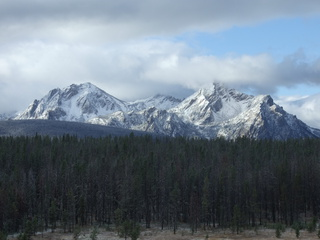 The mighty Sawtooth Mountains