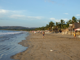 The main beach at La Manzanillia