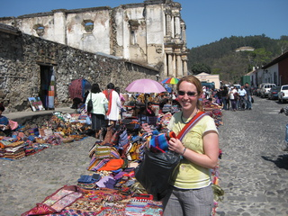 Kate going crazy in the markets of Antigua