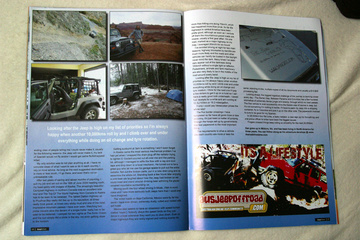 Jeep Action Magazine second spread
