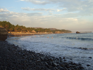The main beach at Playa El Sunzal
