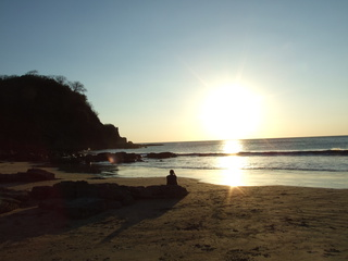 The sunset at Playa Madera
