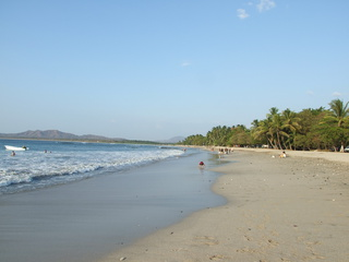 The main beach at Tamarindo
