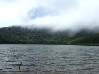 The lake in the crater of Volcan Madera