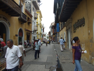 The bustling streets of Cartagena