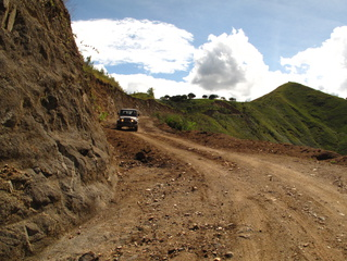 The remote roads in Colombia