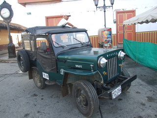 These Willys Jeeps are all over Colombia, usually overflowing with people and gear