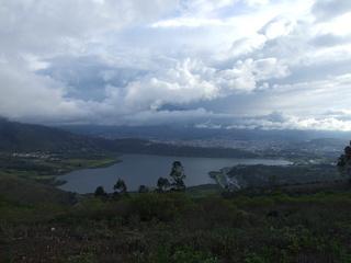 Laguna Yahuarcocha, complete with racetrack