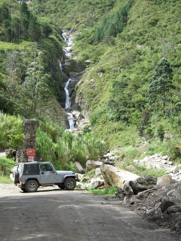 waterfall and jeep 360x480