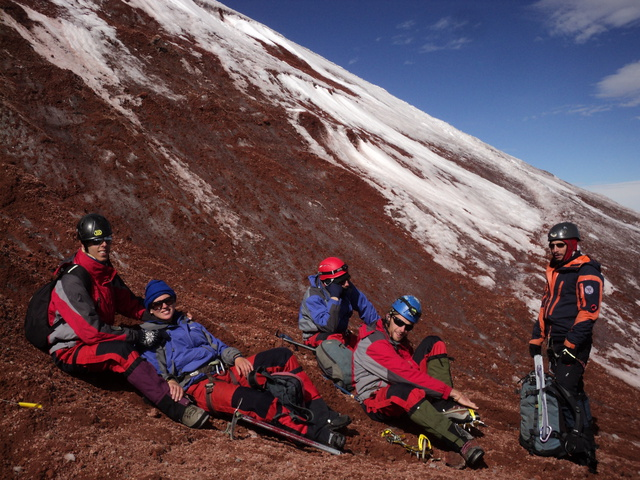 base of cotopaxi glacier 640x480