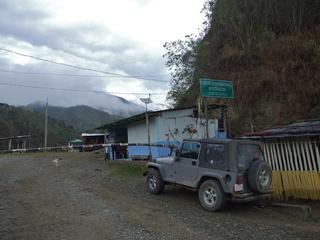 The international border at La Balsa