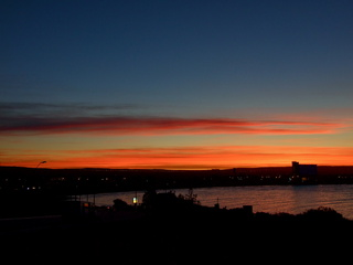 Sunset over Puterto Madryn