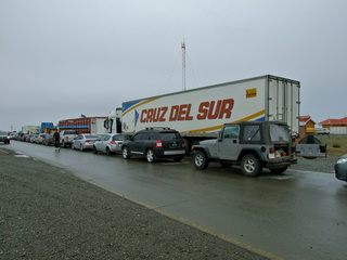 Waiting for the ferry to Tierra Del Fuego