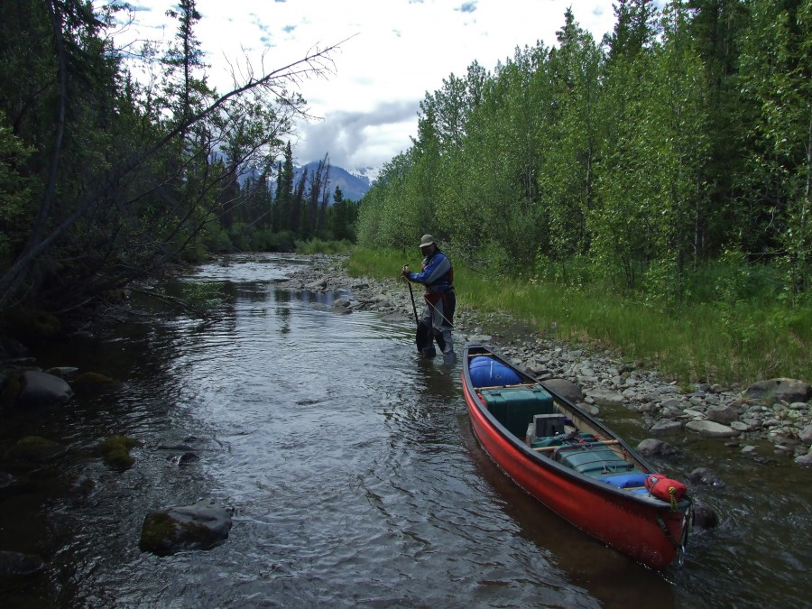 Paddling the jarvis kaskawulsh loop the road chose me for Solo fishing canoe