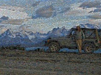 Dan & Jeep 1080 photo mosaic