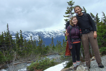Dan and Heather at Upper Dewey Lake