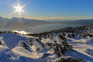 The amazing views of the Lynn Canal from the top of Eaglecrest
