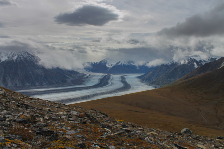 Kaskawulsh glacier peak from observation 720x480