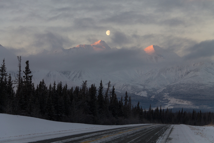 The Kluane Mountains at sunrise