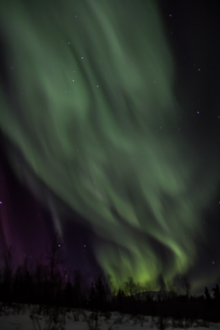 norhtern lights streaks 320x480