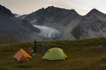 Camping at Samuel Glacier