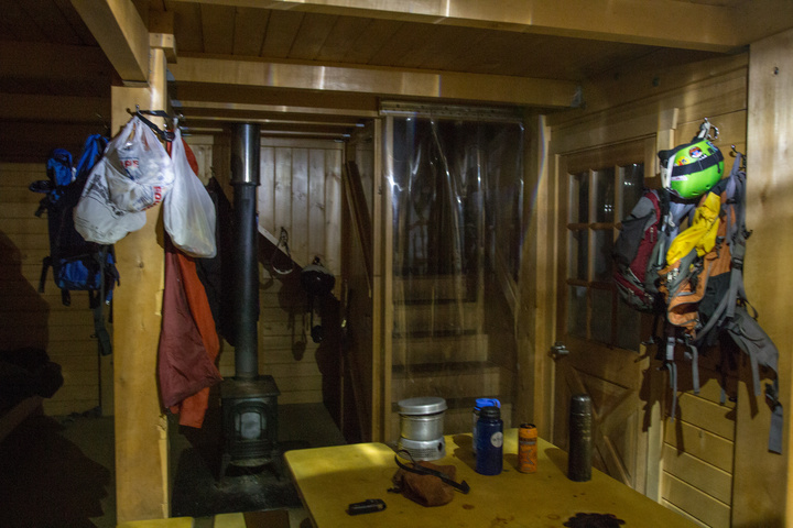 Inside the Dan Moller Cabin