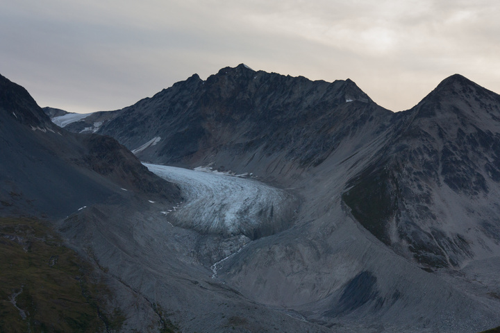 Samuel Glacier at sunset