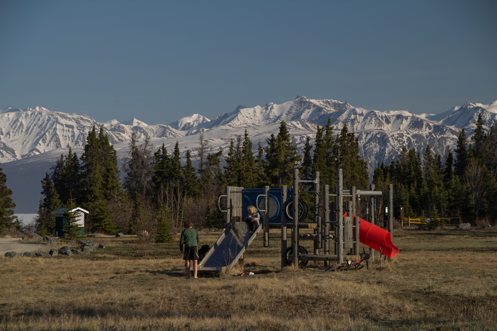 A Yukon playground in late May