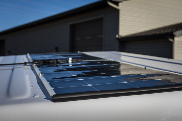 Renogy Solar lightweight panels and small wind deflector