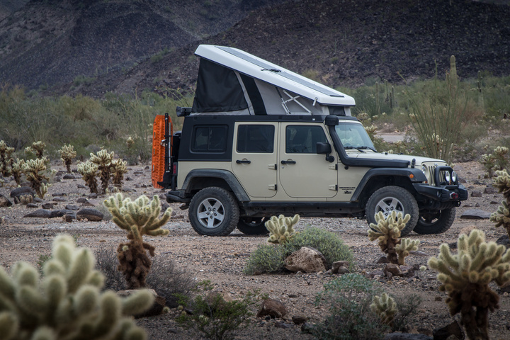 The Jeep with popup J30 camper