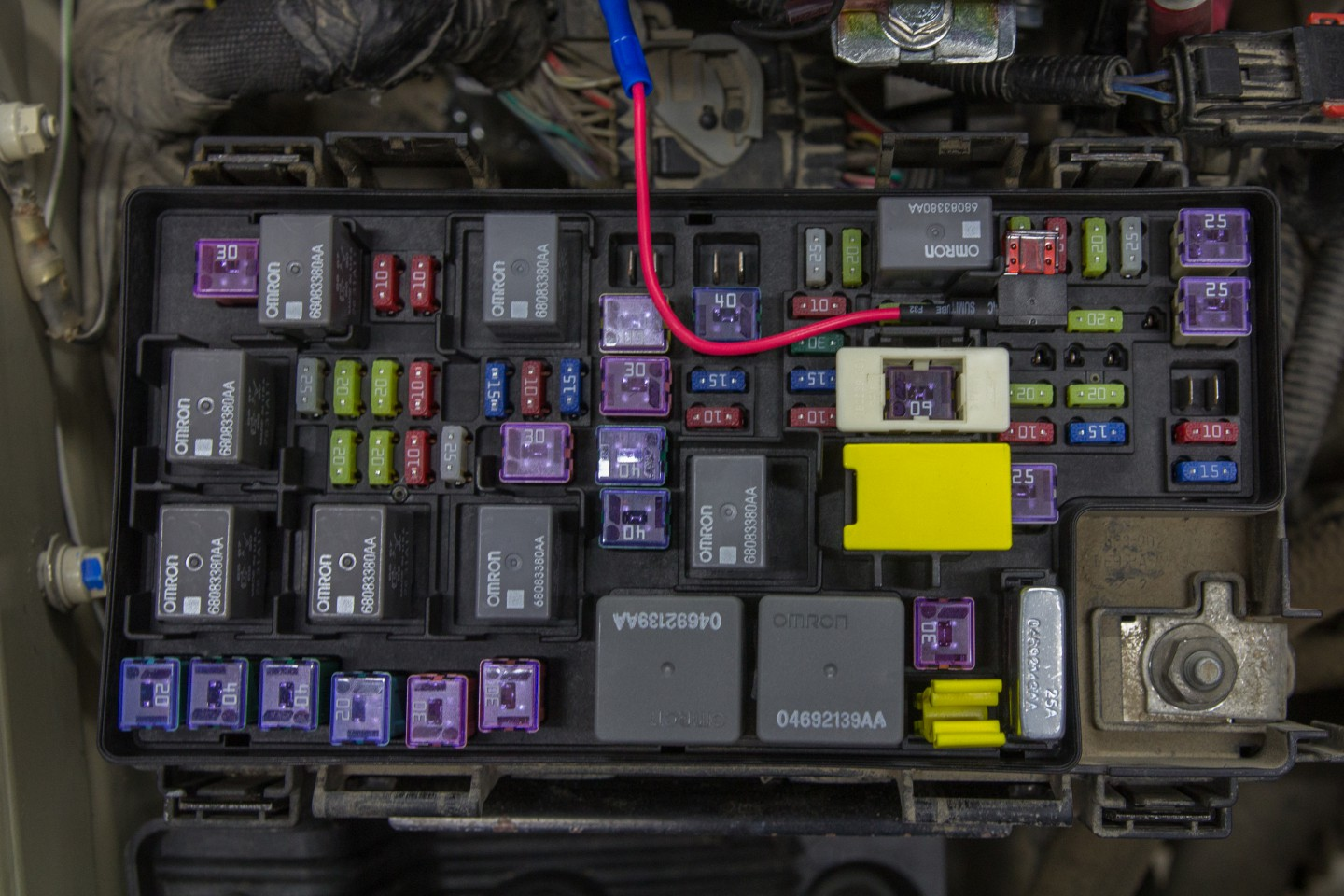 Diy Jeep Wrangler Jk Isolated Dual Batteries The Road Chose Me Battery Wiring Diagram On Truck Auxiliary Mini Add A Circuit Fuse Holder In Box