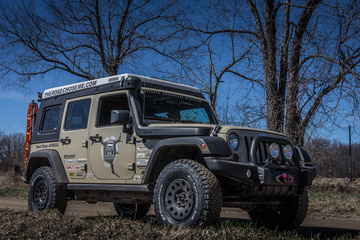 Africa bound JK with AEV 2.5 inch lift, Mopar Winter Steel Wheels and BFGoodrich KO2 All-Terrain Tires in 34x10.5r17