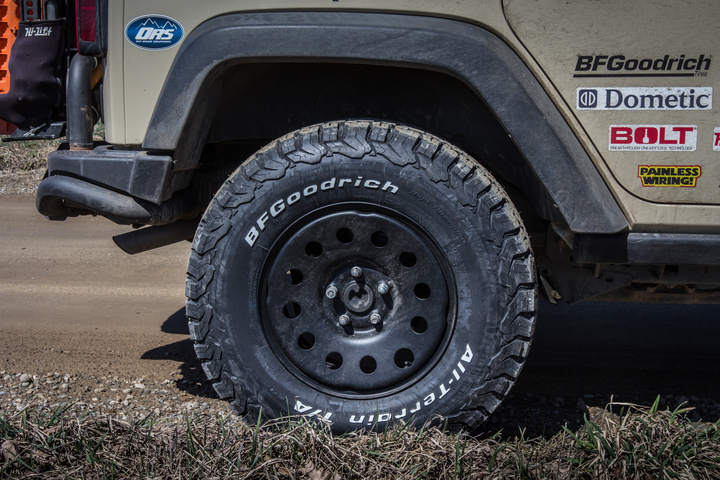 AEV 2.5 inch lift, Mopar Winter Steel Wheels and BFGoodrich KO2 All-Terrain Tires