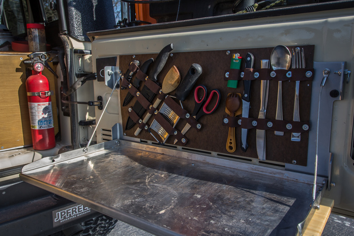 DIY Tailgate Table Utensil/Tool Organizer