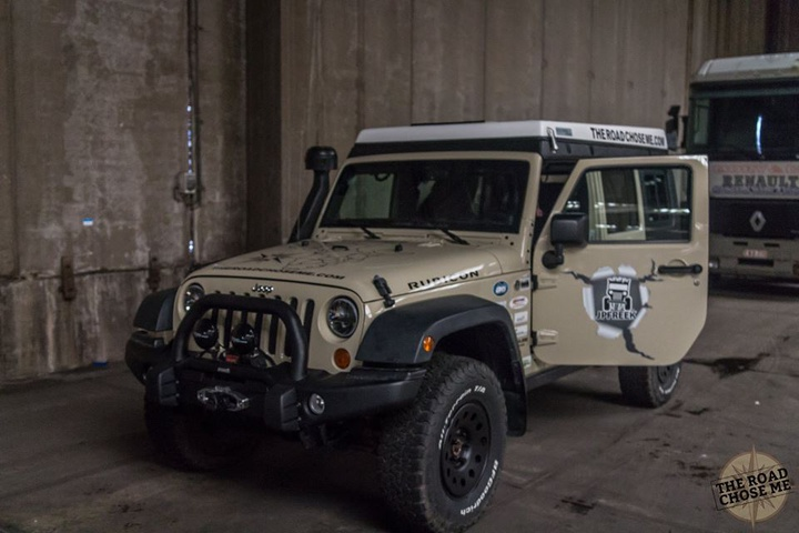 The Jeep in a warehouse in Belgium