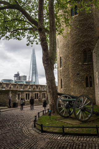 I love the contrast between old and new at The Tower of London
