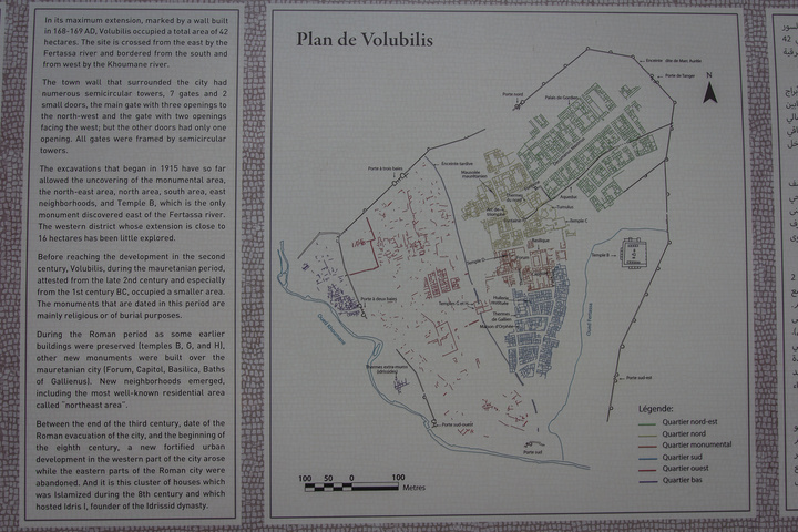 The map and description of the whole site