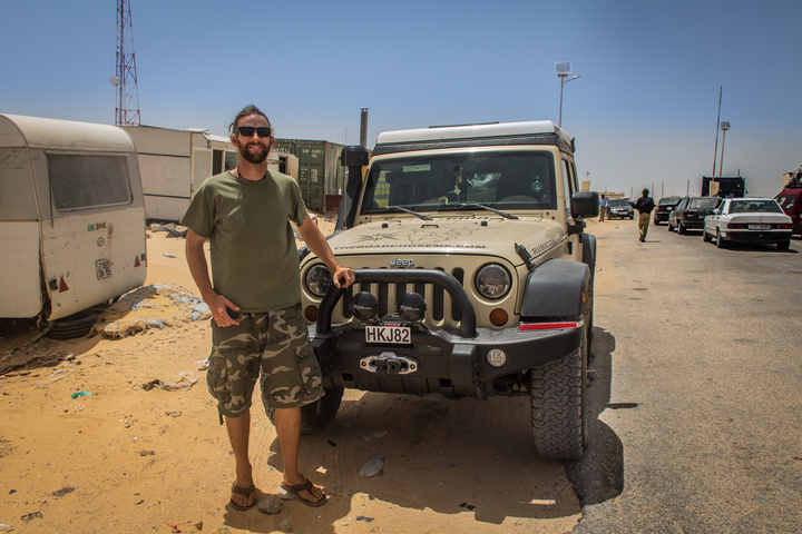 Dan and the Jeep in Morocco