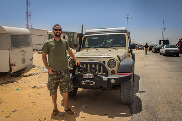 At the Mauritania border, having just got through. An official yelled at me for taking this photo