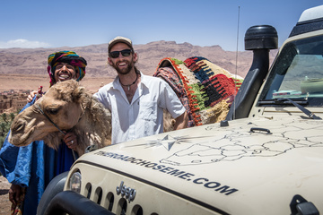 Random guy on the side of the road offering camel photos (for a fee...)